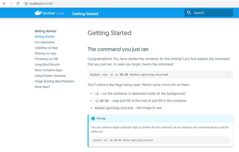Docker in WSL2 simple demo app