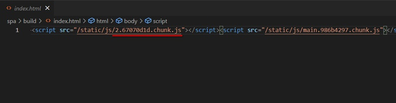 linking to hashed static file using script tag