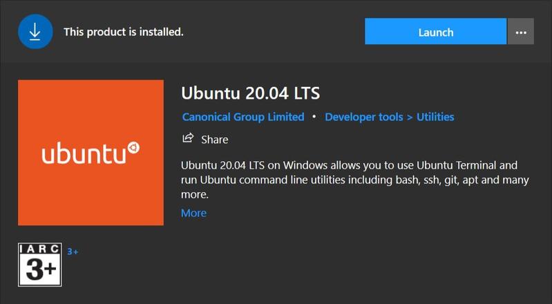 Установка WSL 2 в Windows