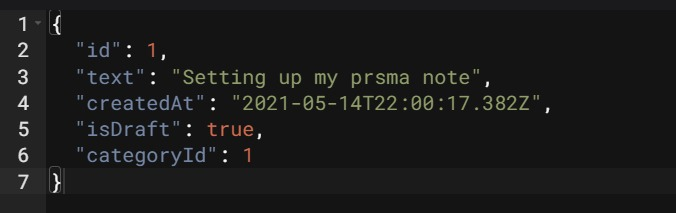 Express response with Prisma created object