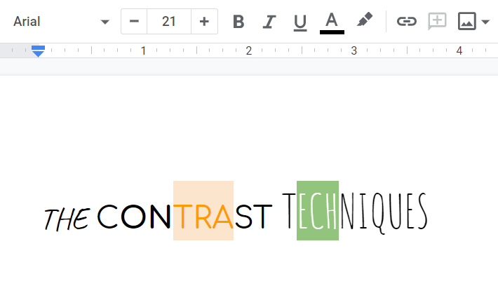 Google docs to prepare text for paste in paint
